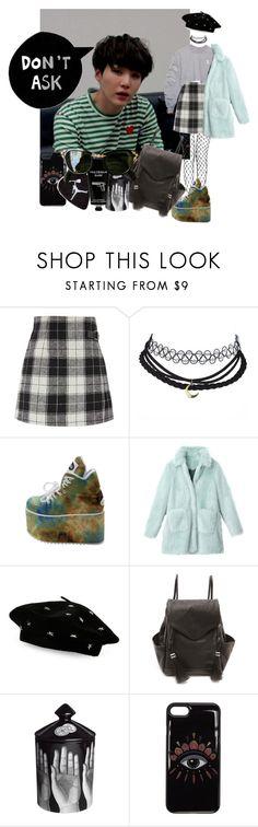 A fashion look from January 2018 featuring fake fur coat, checked skirt and leather crossbody. Tokyo Milk, Kenzo, Steve Madden, Lost, Shoe Bag, Polyvore, Stuff To Buy, Shopping, Collection