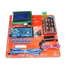 3D Printer Kit RAMPS 1.4+Arduino Mega 2560+DRV8825+12864LCD+PCB Heat Bed MK2B