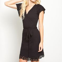 Savannah Wrap Dress Black, 52€, now featured on Fab.