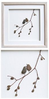 Pebble art love birds, romantic gift for couples, art, new home . - animals - Pebble art love birds romantic gift for couples art new heima - Art Projects For Adults, Toddler Art Projects, Craft Projects, Stone Crafts, Rock Crafts, Frames On Wall, Framed Wall Art, Art Pierre, 3d Art