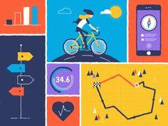 Bike tracker by Marta Azaña #Design Popular #Dribbble #shots