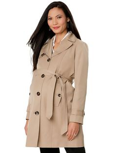 4507ff3a5e291 #Maternity clothes can be chic, too! We love this #trench by  #MotherhoodMaternity.