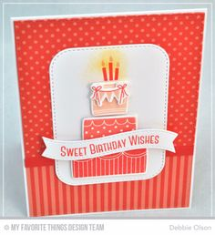 Sweet Birthday Wishes, front ~ MFT