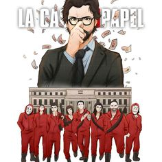 La Casa de Papel I just needed to draw a fanart of La Casa de Papel (Money Heist) so bad, you can't even imagine how much i loved this show 💕💕 This also comes with a speedpaint, which is in my. Films Netflix, Netflix Series, Series Movies, Tv Series, Movie Wallpapers, Cute Wallpapers, Fan Art, Paper Houses, Best Series