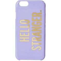 Kate Spade New York Hello Stranger Resin iPhone 6 and 6s Case... ($16) ❤ liked on Polyvore featuring accessories, tech accessories, cases, phone cases, black and kate spade