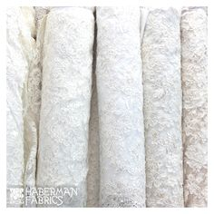 Just a peek at some of the beautiful lace fabrics we have in our Bridal Salon.