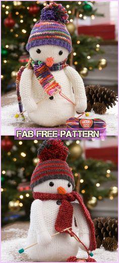 Knit Snowman Free Patterns