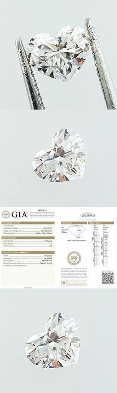 Natural Diamonds 3824: Gia Certified Heart Cut Natural Loose Diamond 0.70 Carats E Color Si2 Clarity -> BUY IT NOW ONLY: $1695 on eBay!