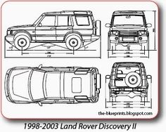 Vector Blueprints - Cars, Trucks, Busses and others: Land Rover - Vector Blueprints For Sale