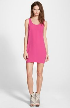 Leith+Scoop+Back+Woven+Tank+Dress+available+at+#Nordstrom