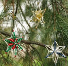 christmas ornaments to make | 3D Bohemian Star - How to Make Glass Christmas Ornaments - Creativity ...