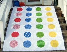 Twister quilt! Would be so cute in a little girl or boys room!
