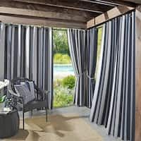 Shop for Sun Zero Valencia Cabana Stripe Indoor/Outdoor Curtain Panel. Get free delivery On EVERYTHING* Overstock - Your Online Garden & Patio Store! Get in rewards with Club O! Porch Curtains, Outdoor Curtains, Grommet Curtains, Curtain Panels, Outdoor Fabric, Navy Curtains, Fabric Panels, Indoor Outdoor, Ideas