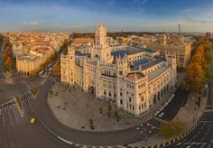 Cibeles Palace, or the Palace of Communication #1 • AirPano.com • Photo