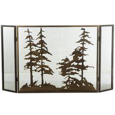 Meyda Tiffany Tall Folding 3 Panel Fireplace Screen