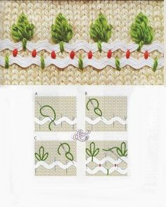 Rickrack with embroidery