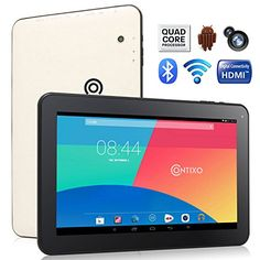 Contixo Q102 10.1″ Quad Core Google Android 4.4 KitKat Tablet PC, 1GB RAM, 16GB Nand Flash, Bluetooth, Dual Camera, HDMI, Google Play Pre-installed, 3D Game Supported, 2014 Newest WHITE Model : $99.99