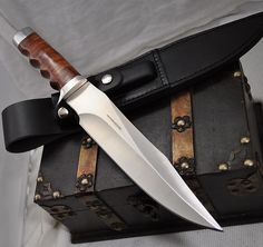 Boker Knives - Magnum Bowie fixed blade with a leather sheathe @Darryl Hicks Lewis
