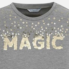 Long sleeved basic sequins t-shirt for girl Steel - Mayoral Lesage, Girls Shopping, Shirts For Girls, Printed Shirts, Long Sleeve Shirts, Girl Fashion, Girl Outfits, Sequins, Sleeves