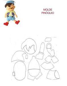 Pinóquio com molde