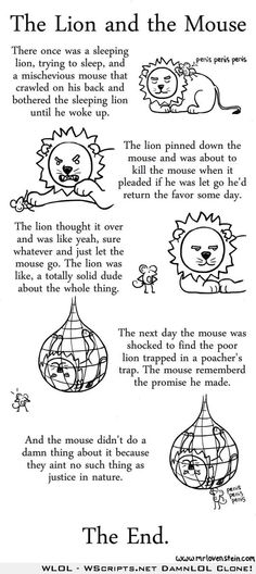 The Lion and the Mouse Reading Comprehension & Writing Activities ...