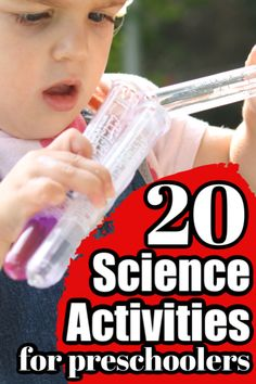 Fun and easy science activities and experiments to do at home with toddlers and preschoolers. These experiments use materials and supplies you already have around the house. Simple set-ups and clean-ups and so many ways for young children to learn exper Toddler Learning, Toddler Preschool, Fun Learning, Science Activities For Toddlers, Science For Kids, Stem Activities, Writing Prompts For Kids, Kids Writing, Easy Science Experiments