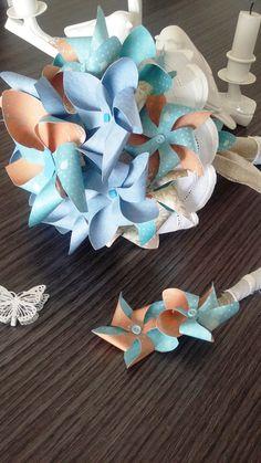 Bouquet de mariée moulins à vent et sa boutonnière : Autres accessoires par stefebricole