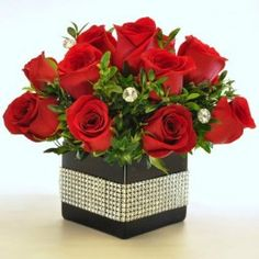 Send flowers from a real McLean, VA local florist. Flowers & Plants, Etc. has a large selection of gorgeous floral arrangements and bouquets. We offer same-day flower deliveries for flowers. Silver Christmas Decorations, Christmas Door Wreaths, Christmas Flowers, Valentine Bouquet, Valentines Flowers, Valentine Nails, Valentine Ideas, Valentine's Day Flower Arrangements, Rose Centerpieces