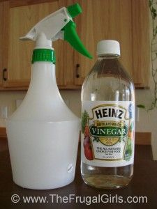 Uses for White vinegar  weed killer (spray generously on all parts of weeds, works best for weeds that get sunlight)  dishwasher additive (put in place of spot remover liquid)  Glass Cleaner (combined with a few drops of Dawn)  Fabric Softener (6:3:2 hot water:vinegar:hair conditioner, mix water and conditioner first then add vinegar)