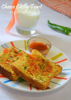 Tasty Appetite: How to make Cheese Chilli Toast / Healthy Breakfas...