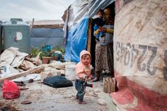Severe winter weather threatens the lives of Syrian refugee children like the ones pictured. Photo: F. Seriex