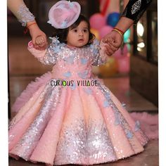 For orders or details please whatsapp 6280 818 719 , 6280 807 855 Pink Dresses For Kids, Baby Girl Dresses Diy, Kids Party Wear Dresses, Little Girl Pageant Dresses, Kids Dress Wear, Baby Girl Dress Patterns, Kids Gown, Girls Dresses, Kids Frocks Design