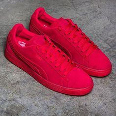 PUMA SUEDE EMBOSS ICED RED SNEAKER 361664 03