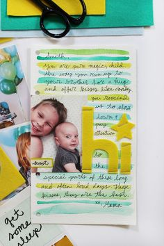 I would like to make a journaling card like this with painted lines for journaling.