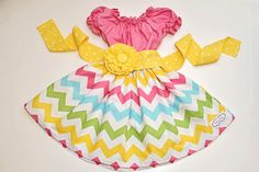 "Girls Easter Spring Peasant style dress ""Pink Remix"" boutique hand made 6-9 month to 6T...Love Tay Boutique"