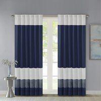 Morell Striped Room Darkening Rod Pocket Single Curtain Panel