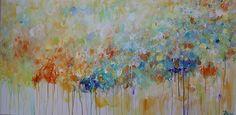 Pintura pared arte gran pintura abstracta pintura por artbyoak1