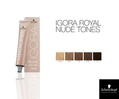 Schwarzkopf Professional IGORA Royal Permanent Color Creme Nude Tones.