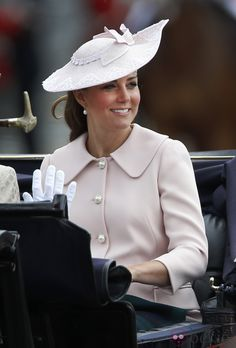 Kate Middleton embarazada en Trooping the Colour 2013