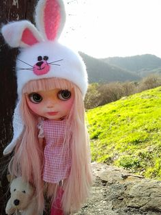White Bunny Helmet made by Beltheine Elves by KassandraBox on Etsy