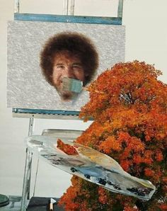 A happy tree painting Bob Ross