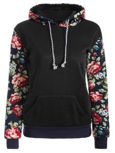 GET $50 NOW | Join RoseGal: Get YOUR $50 NOW!http://m.rosegal.com/sweatshirts-hoodies/floral-print-front-pocket-preppy-786178.html?seid=7249451rg786178