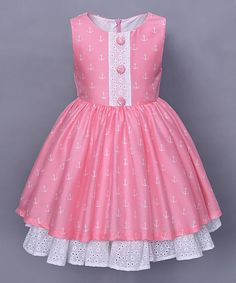 Pink Anchor Hope Dress - Toddler & Girls #zulily #zulilyfinds
