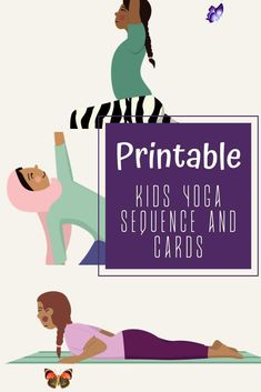 Kid's Yoga Flow Cards Digital Printable Yoga Sequence and Pose cards for kids! Try the Kids Yoga Flow pose cards especially created to teach kids yoga quickly and give them a brain break at school or at home. Kids yoga sequence to use in a kids yoga class, a library, at home or in a studio. Kids love doing yoga and these inclusive images showing kids from all backgrounds will be perfect for your home or school setting. Kids yoga sequence for all kids and children around the world. Yoga poses… Kids Learning Activities, Fun Learning, Teaching Kids, Movement Activities, Motor Activities, Indoor Activities, Family Activities, Kids Yoga Poses, Yoga For Kids