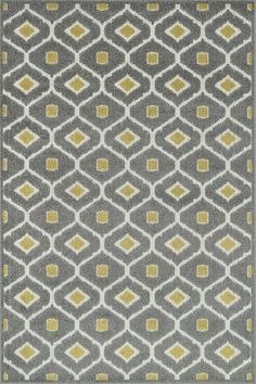 """gray and """"grellow"""" area rug"""