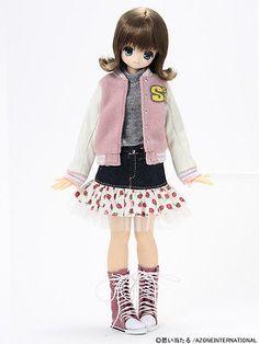 Japan-Azone-Pureneemo-EX-Cute-Koron-Snotty-Cat-II-1-6-Fashion-Doll-obitsu