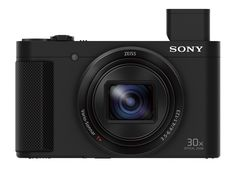 "Sony DSCHX80/B High Zoom Point & Shoot Camera (Black). 30x Optical/60x Clear Image Zoom ZEISS Vario-Sonnar T* Lens, 18.2MP Exmor R CMOS Sensor for superb low light images, Built-in retractable OLED Tru-Finder viewfinder. Versatile video w/ high-quality XAVC S, AVCHD & MP4 formats, Simple connectivity to smartphones via Wi-Fi w/NFC, 5-axis image stabilization greatly reduces camera shake blur. Selfie-ready 3"" Extra Fine LCD multi-angle display, P/A/S/M modes, customizable settings and…"