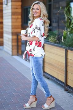 Pretty As A Peony Top - Ivory