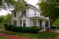 Eisenhower Presidential Library in Abilene, Kansas contains President Dwight Eisenhower's boyhood home, museum, & gravesite
