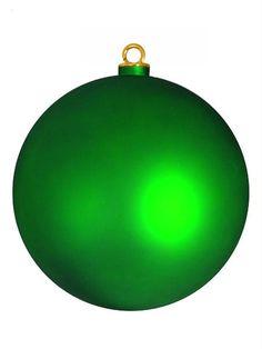 "Shatterproof Matte Xmas Green Christmas Ball Ornament 12"" (300mm)"